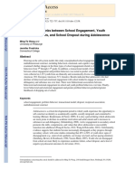 The Reciprocal Links Between School Engagement, Youth Problem Behaviours, And School Dropout During Adolescence