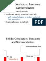 Conductors, Insulators and Semiconductors - GDLC
