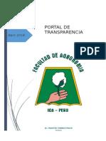 Portal de Transparencia Agronomía