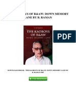 [H577.eBook] Download PDF the Kaoboys of Raw Down Memory Lane by B Raman
