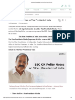 Important Polity Notes on Vice President of India