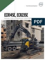 VOLVO ECR145e Ecr235e Product Brochure Final