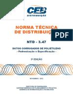 Ntd 3.47 - Dutos Corrugados de Polietileno - Padronizao e Especificao
