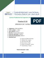 Informe 2 Presion de Vapor Fico