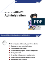 SAP Training Course4.6 - 4 Account_Administration_-NEW 01-31-03