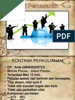 1. Strategi Pemasaran (Product - Price)