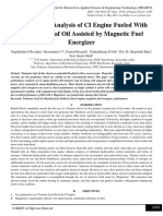 Performance Analysis of CI Engine Fueled With Turmeric Leaf Oil Assisted by Magnetic Fuel Energizer