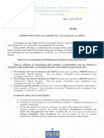 20182006 Ammissioni Corsi Accademici 18 19