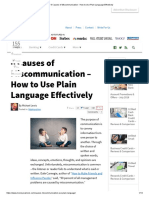 6 Causes of Miscommunication - How to Use Plain Language Effectively