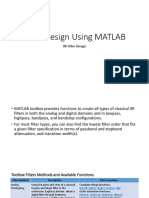 IIR Filter Design With MATLAB