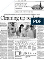 Cleaning up real nice, A6, National Post, July 11, 2009