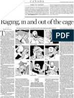 Raging, in and out of the cage, A10, National Post, April 19, 2008