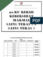 Buku Rekod Kebersihan Makmal -Cover