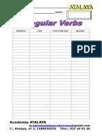 Examen Irregular Verbs
