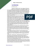 Biography of Muhammad Natsir