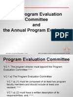 Annual program evaluation