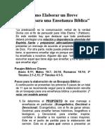 Cómo Elaborar Un Breve Bosquejo Para Una Enseñanza Bíblica (Homiletica I)