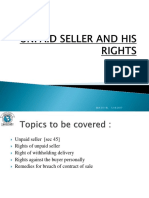 4. Right of an Unpaid Seller