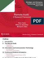 Remote Audit - AAA 2010 - SET Workshop