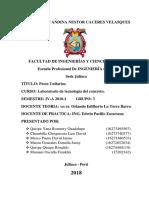 Informe Concreto Pesos Unitarios