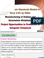Global Inorganic Chemicals Market to Grow 4.5% by 2022.