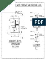 LT FEEDER PANEL Base Plate With Stifener Detail