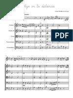 Contigo en La Distancia - Score and Parts