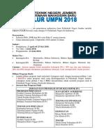 INFORMASI UMPN 2018