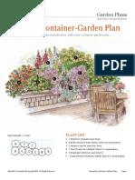 Deck Side Container Garden Plan