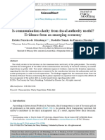 Is Communication Clarity From Fiscal Authority Useful Evidence From an Emerging Economy