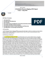U. S. Navy Office of Naval Intelligence Worldwide Threat to Shipping (WTS) Report 4 June - 4 July 2018