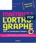 Mairtisez l'Orthographe Avec La Certification Voltaire - Eyrolles