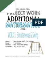 Add Math Project 2018 Kuala Lumpur (Simultaneous and Swing)