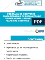 Programa Monitoreo Microbiologico en Plantas de Beneficio