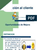Capacitacio Atencion Cliente-Mejora de Areas