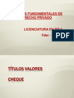 Titulos Valores. Cheques Ppt