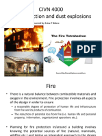 Fire protection and dust explosions Lecture slides