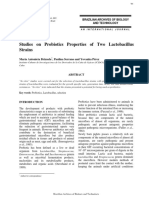 Studies on Probiotics Properties of Two Lactobacillus
