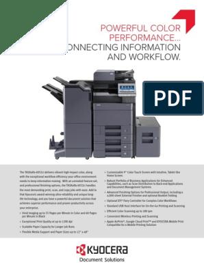 TASKalfa+6052ci+Spec+Sheet | Fax | File Transfer Protocol