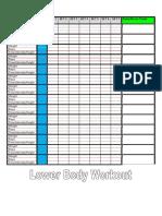 Lower Body Workout Charts