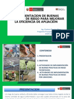 IMPLEMENTACION DE BUENAS PRACTICAS DE RIEGO PARA MEJORAR LA EFICIENCIA DE APLIACIÓN