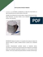 Defectologia de Piezas Fundidas Procesos Fundicion