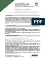 Edital de Abertura Mestrado e Doutorado 2017-2018 Ppgel Final
