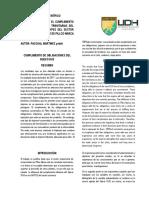 Influencia en El Cumplimiento de Las Obligaciones Tributarias Del Nuevo Rus en Las Myoes Del Sector Comercio Del Distrito de Pillco Marca Huanuco2018