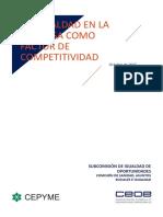 CEOE La Igualdad en La Empresa Como Factor de Competitividad
