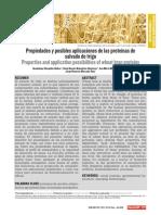 Propiedades y Posibles Aplicaciones de Las Proteínas Del trigo