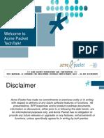 Acme Packet TechTalk Comprehensive SBC Design