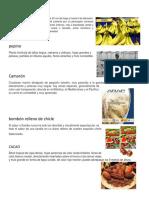20 Productos de Honduras