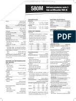 Material Retroexcavadoras 580m Tier III Case Especificaciones Tecnicas Capacidad Elevacion Datos Dimensiones Equipo