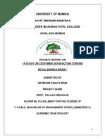 STUDY ON CUSTOMER SATISFACTION TOWORD ROYAL ENFIELD BIKES.docx